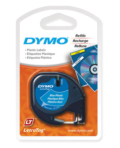 Dymo LetraTag 12mm x 4m Plastic Ultra Blue Label Tape (91335)