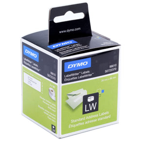 Dymo LabelWriter Address Labels 28mm x 89mm White (SD99010) 260 Pack