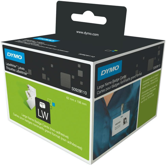 Dymo LabelWriter Non-Adhesive Name Badge Labels Box of 250 (SD30856)