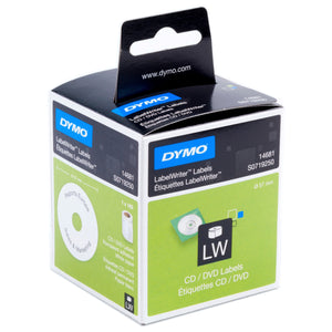 Dymo LabelWriter CD / DVD 57mm (SD14681) 160 Pack White Labels