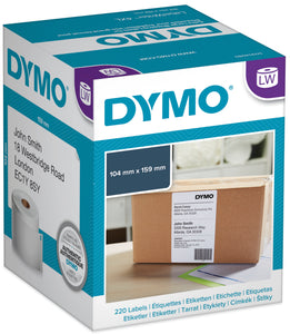 Dymo LabelWriter XL Shipping Labels Genuine 104mm x 159mm 220 Pack (SD0904980 / 1744907)