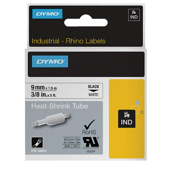 Rhino Industrial Heat Shrink Tube 12mm White Label Tape (SD18055)