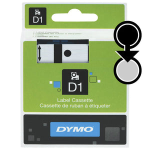 Dymo D1 9mm x 7m Black on Clear Label Tape (SD40910)