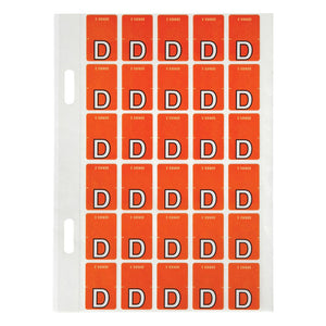 "Avery Top Tab Colour Code Labels ""D"" 20 x 30 mm Red 150 Pack (44404)"