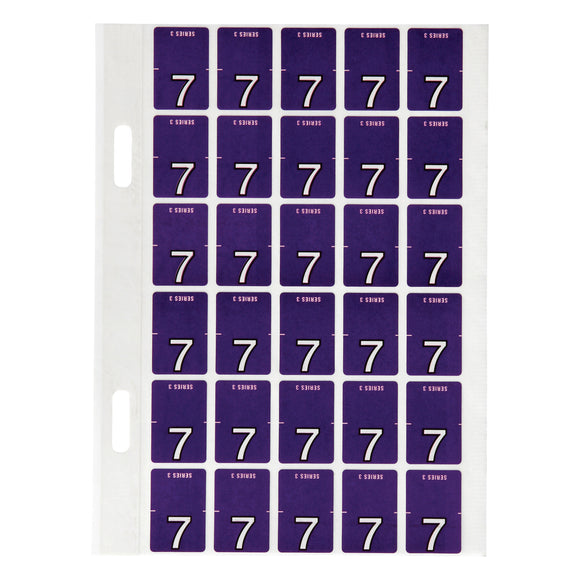 Avery Top Tab Colour Code Labels 7 20 x 30 mm Purple 150 Pack (44207)