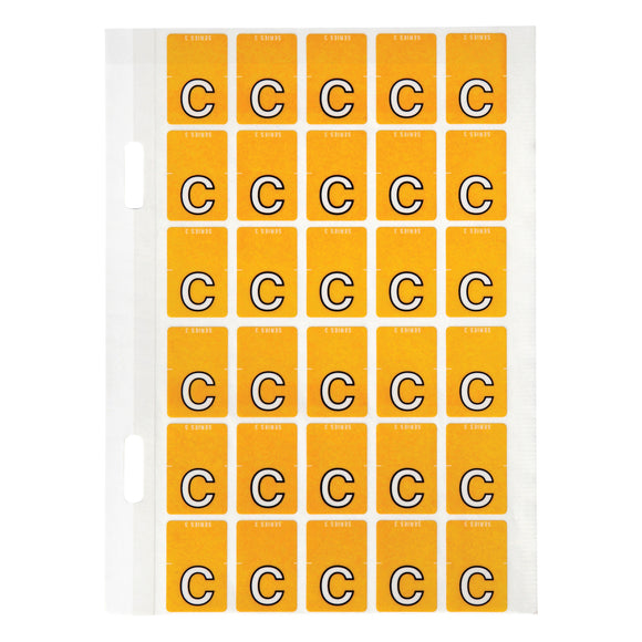 Avery Top Tab Colour Code Labels C 20 x 30 mm Orange 150 Pack (44403)