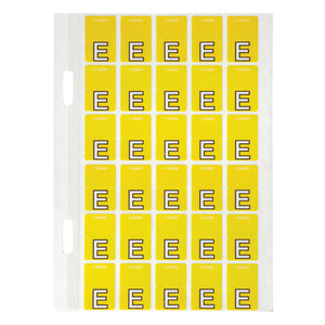 Avery Top Tab Colour Code Labels E 20 x 30 mm Yellow 150 Pack (44405)