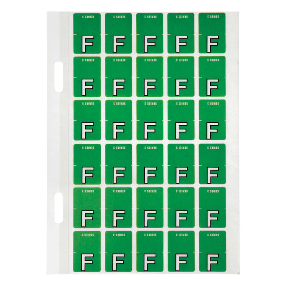Avery Top Tab Colour Code Labels F 20 x 30 mm Light green 150 Pack (44406)