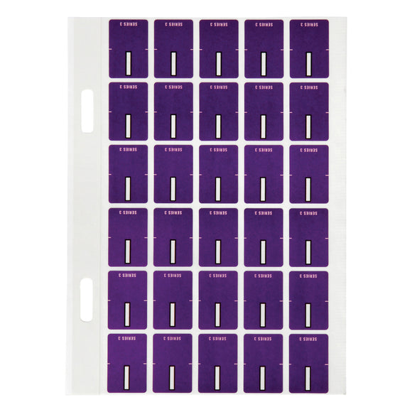Avery Top Tab Colour Code Labels I 20 x 30 mm Purple 150 Pack (44409)