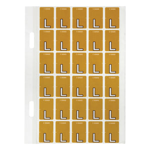 Avery Top Tab Colour Code Labels L 20 x 30 mm Mustard 150 Pack (44412)
