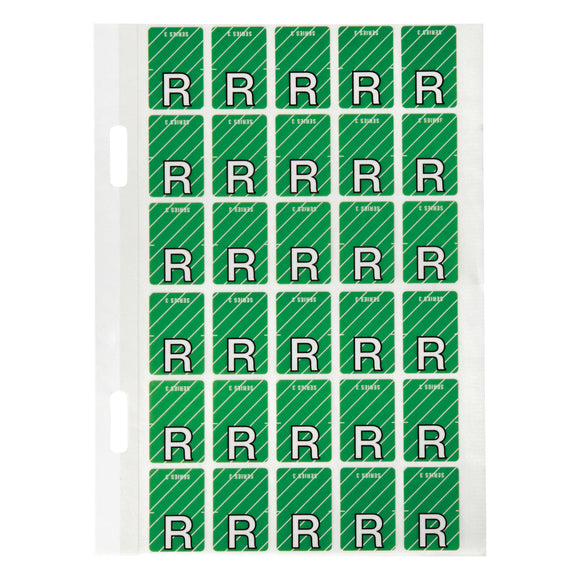 Avery Top Tab Colour Code Labels R 20 x 30 mm Light green with stripe 150 Pack (44418)