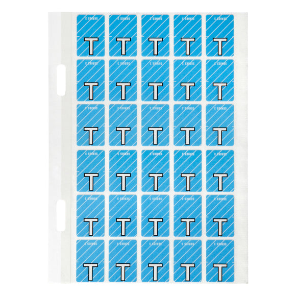 Avery Top Tab Colour Code Labels T 20 x 30 mm Blue with stripe 150 Pack (44420)