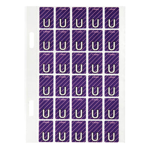 Avery Top Tab Colour Code Labels U 20 x 30 mm Purple with stripe 150 Pack (44421)