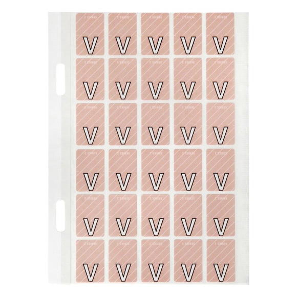 Avery Top Tab Colour Code Labels V 20 x 30 mm Mauve with stripe 150 Pack (44422)