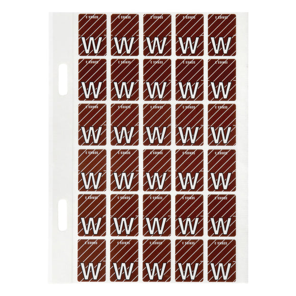 Avery Top Tab Colour Code Labels W 20 x 30 mm Brown 150 Pack (44423)