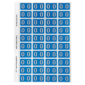 Avery O Side Tab Colour Coding Labels for Lateral Filing, 42 x 25 mm, Blue, 240 Labels (44515)