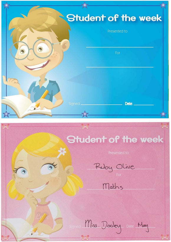 Avery Merit Certificates, Student of the Week, 148 x 210 mm, 36 Certificates (69644)