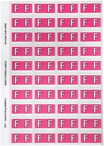 Avery F Side Tab Colour Coding Labels for Lateral Filing, 42 x 25 mm, Pink, 240 Labels (44506)