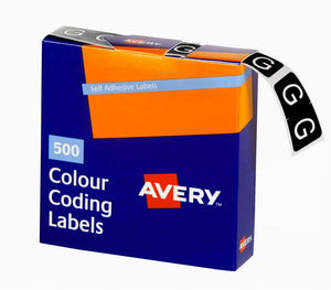 Avery G Side Tab Colour Coding Labels for Lateral Filing, 25 x 38 mm, Dark Green, 500 Labels (43207)
