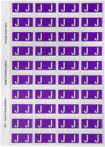 Avery J Side Tab Colour Coding Labels for Lateral Filing, 42 x 25 mm, Purple, 240 Labels (44510)