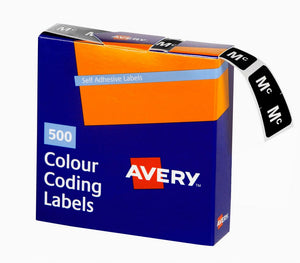 Avery Mc Side Tab Colour Coding Labels for Lateral Filing, 25 x 38 mm, White, 500 Labels (43227)