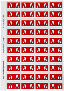 Avery A Side Tab Colour Coding Labels for Lateral Filing, 42 x 25 mm, Red, 240 Labels (44501)