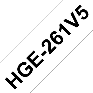 Brother HGE Labelling Tape 36mm Width, Black on White, 8m Long (HGE-261V5)