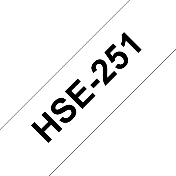 Brother HSE Heat Shrink Tube Labelling Tape 23.6mm Width, Black on White, 1.5m Long (HSE-251)