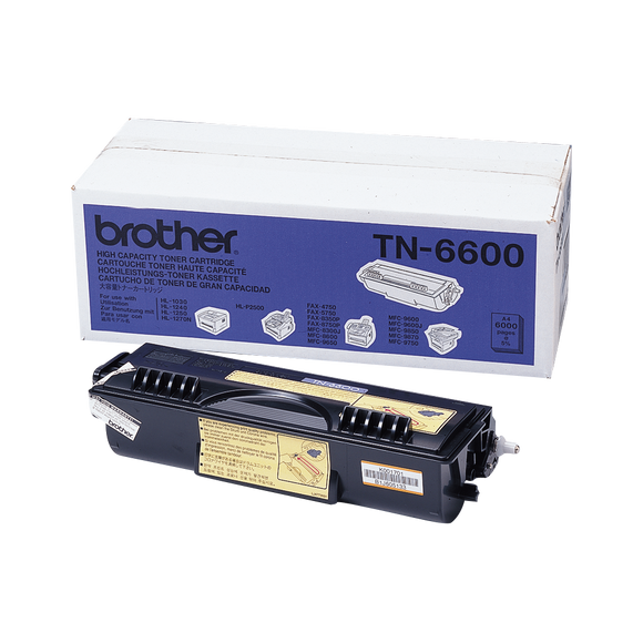 Brother TN Toner Cartridge, Black, 6,000 pages (TN-6600)