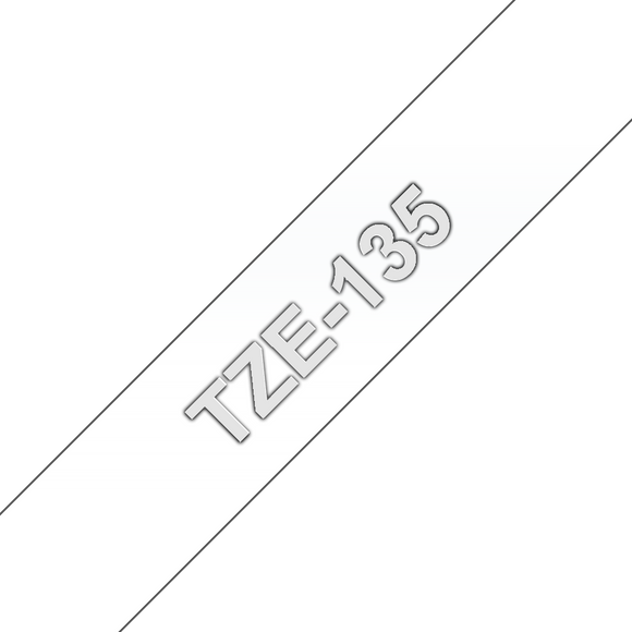 Brother TZ135 White on Clear 12mm x 8m Label Tape