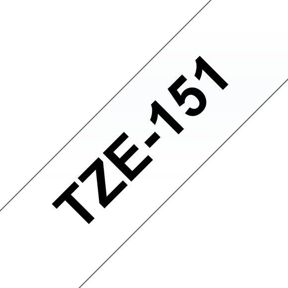 Brother TZE Labelling Tape, 25mm Width, Black on Clear, 8m Long (TZE-151)