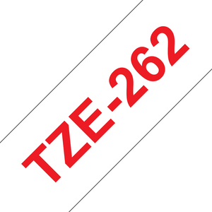 Brother TZE Labelling Tape, 36mm Width, Red on White, 8m Long (TZE-262)