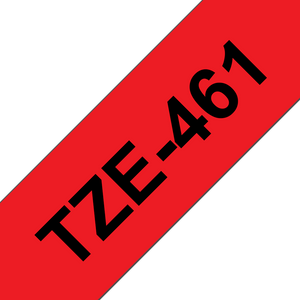 Brother TZE Labelling Tape, 36mm Width, Black on Red, 8m Long (TZE-461)