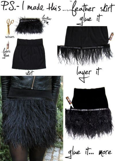 D.I.Y Feather skirt