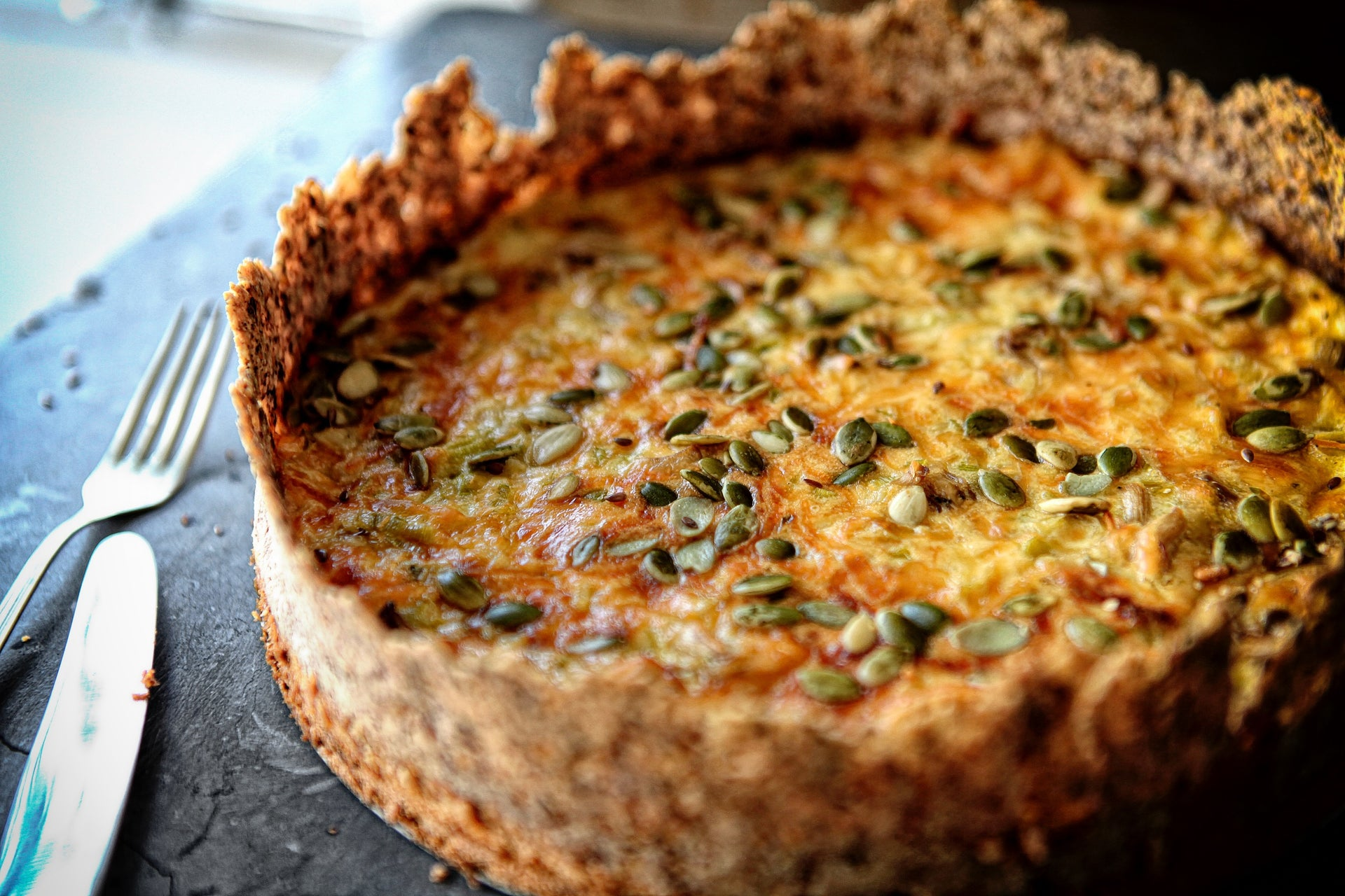 Quiche de Alho Poró com Shimeji The Impossible Candy