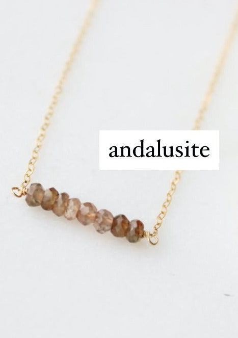 TINY Rondelle Necklace