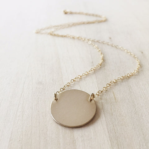 XL Brushed Disc Necklace