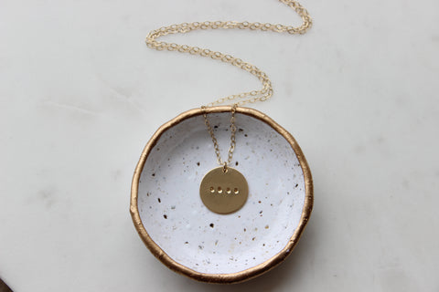 Symbolic Dot Necklace - Disc