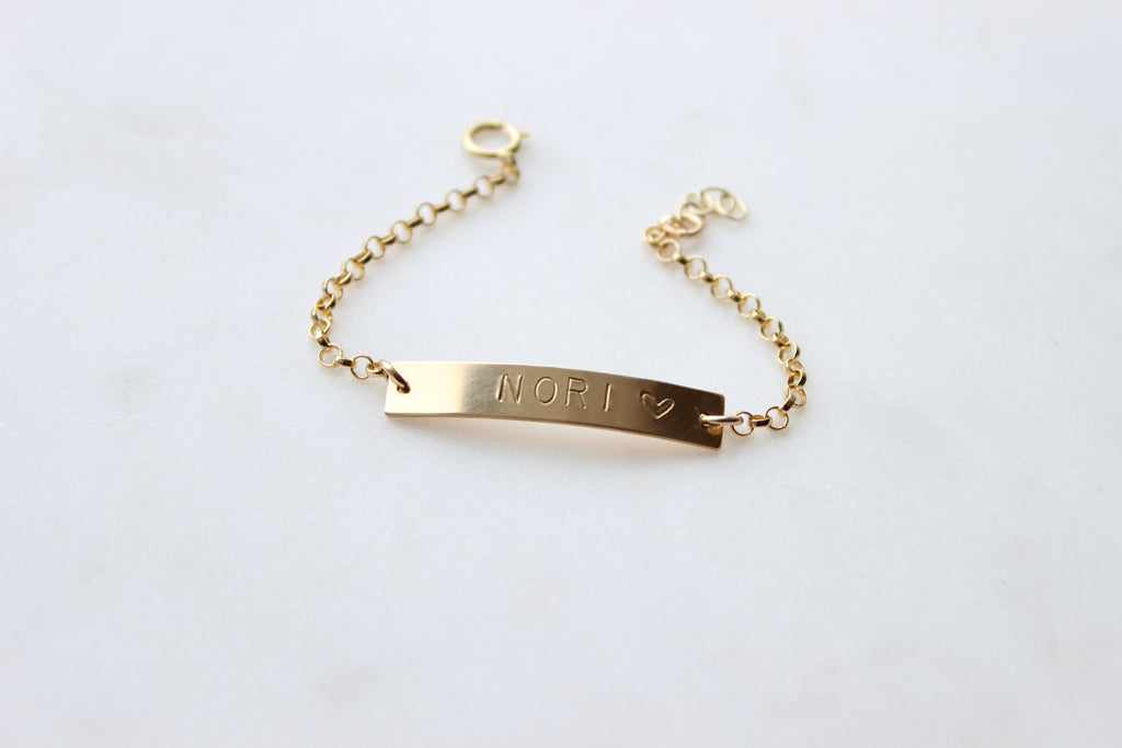 Beholden Bar Bracelet - Baby / Child