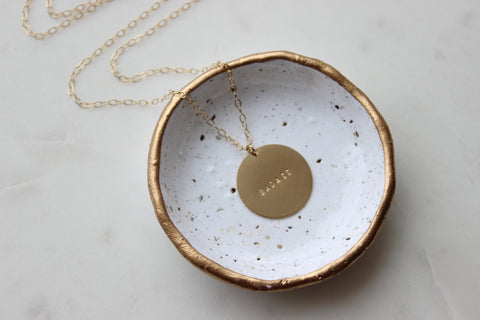 Mantra Coin Necklace