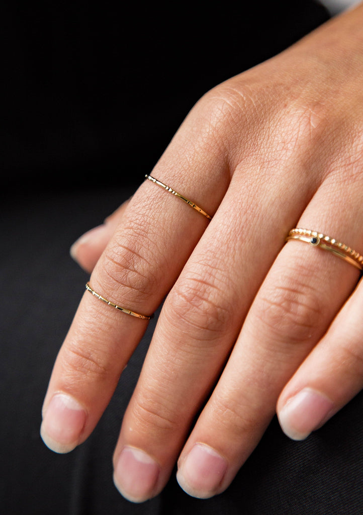 Bamboo Hammered Rings
