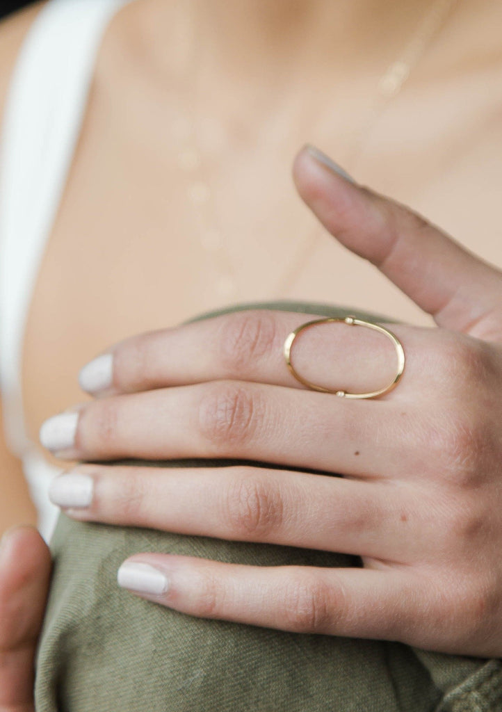 Oval Statement Ring
