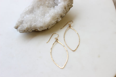 Small Marquise Hoops