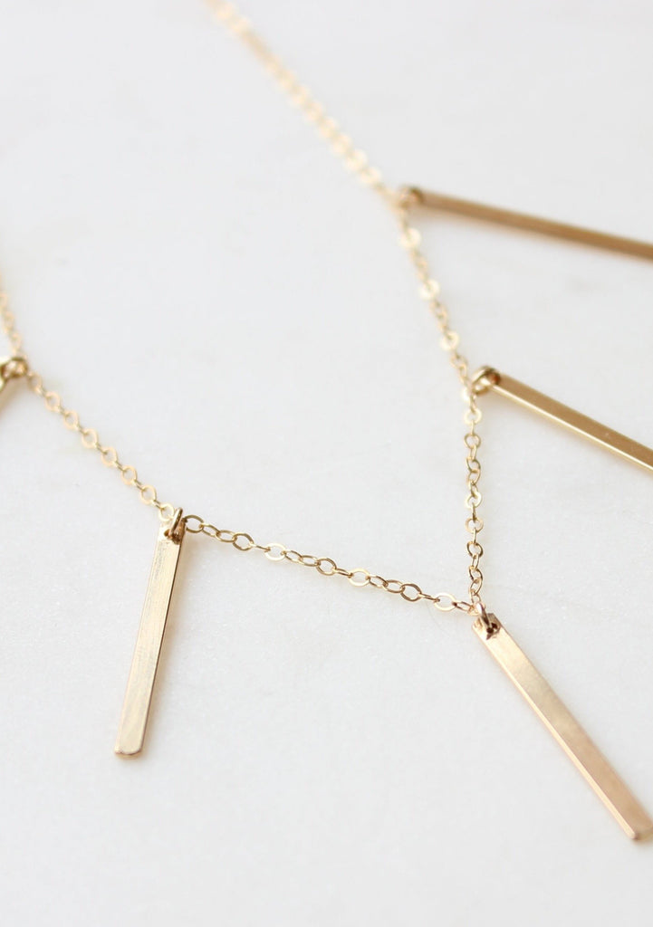 Linear Quinate Necklace