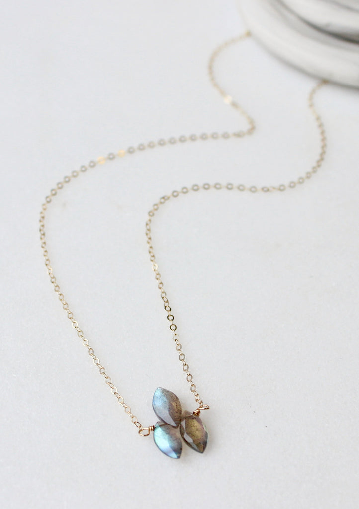 Labradorite Triad Necklace