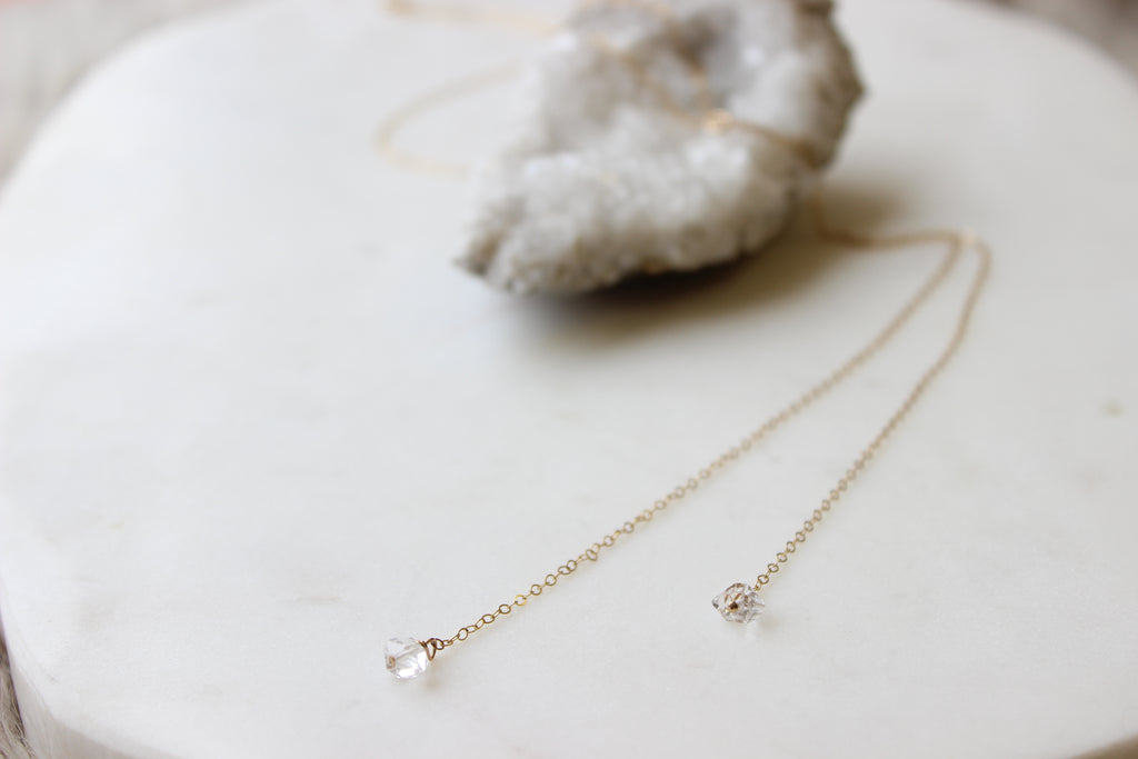 Herkimer Lariat Necklace