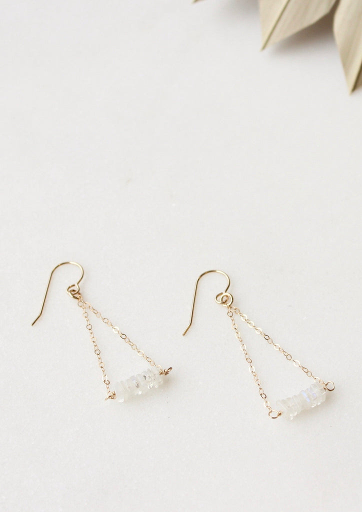 Moonstone Chip Earrings