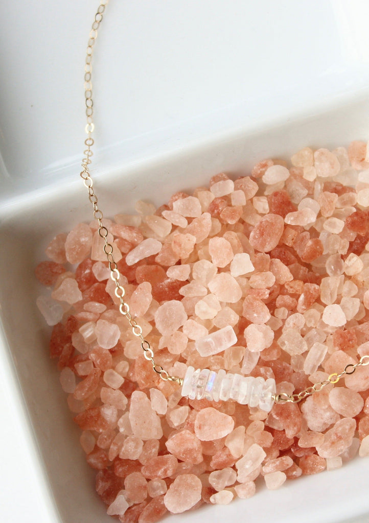 Moonstone Chip Necklace