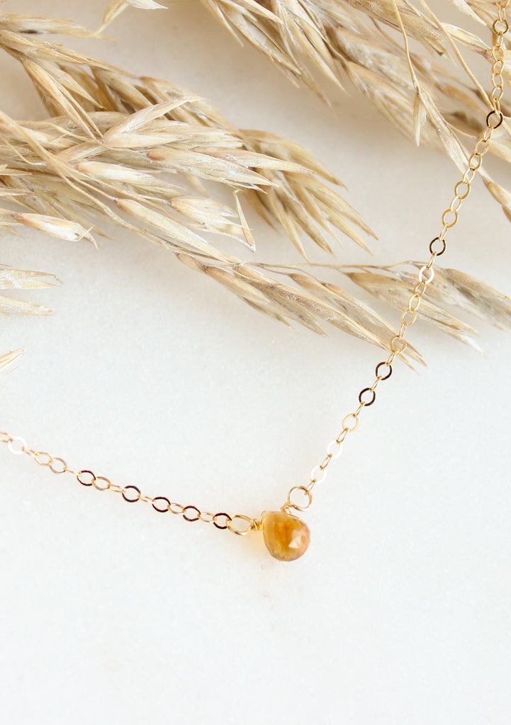 TINY Teardrop Gemstone Choker