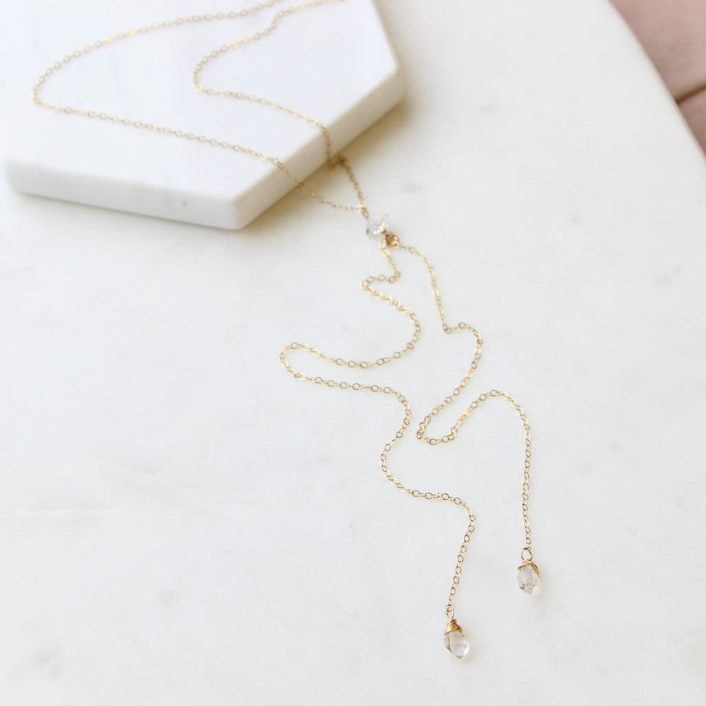 Herkimer Droplets Necklace